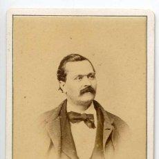 Fotografía antigua: ENRICO DELLE SEDIE, BARÍTONO DE OPERA, CH. REUTLINGER PHOTOGRAPHE PARIS. Lote 66238422