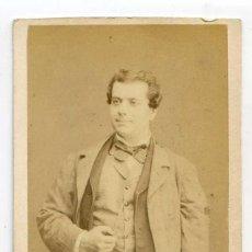 Fotografía antigua: M. FRANCÉS, ACTOR, THÉÂTRE DU GYMNASE, PARIS, CIRCA 1867, PHOTOGRAPHE NUMA FILS. Lote 66239834