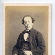 Fotografía antigua: AUGUSTE PARADE, ACTOR, THÉÂTRE DU VAUDEVILLE, PARIS, 1867, PHOTOGRAPHE NUMA FILS. Lote 66240134