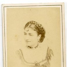 Fotografía antigua: GEORGETTE OLIVIER, ACTRIZ, THÉÂTRE DU VAUDEVILLE, PARIS, 1867, PHOTOGRAPHE CH. REUTLINGER. Lote 66244778