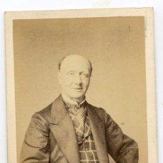 Fotografía antigua: LEOPOLD DELANNOY, ACTOR, THÉÂTRE DU VAUDEVILLE, PARIS, 1867, PHOTOGRAPHIE MAUCOMBLE ULRIC GROB. Lote 66245058