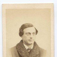 Fotografía antigua: M. BRASSEUR, ACTOR, THÉÂTRE DU PALAIS ROYAL, PARIS1867 NUMA FILS PHOTOGRAPHE. Lote 66246482