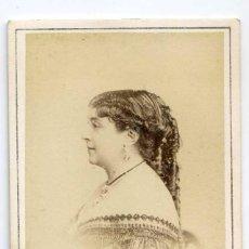 Fotografía antigua: M. MONTALON, ACTRIZ, THÉÂTRE DU PALAIS ROYAL, PARIS1867 CH. REUTLINGER. Lote 66247498