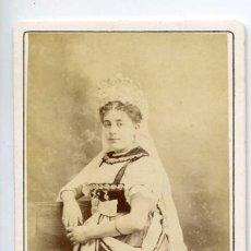 Fotografía antigua: ANNA JUDIC, ACTRIZ, LA TIMBALE D´ARGENT, THÉÂTRE DU BOUFFES PARISIENNES, PARIS 1872 CH. REUTLINGER. Lote 66249474