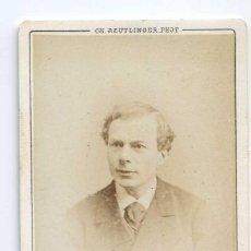 Fotografía antigua: LASSOUCHE, ACTOR THÉÂTRE DU PALAIS-ROYAL PARIS 1874 CH. REUTLINGER. Lote 66541182