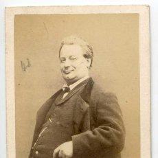 Fotografía antigua: AMABLE COURTECUISSE DIT DÉSIRÉ, ACTOR Y CANTANTE THÉÂTRE DU PALAIS-ROYAL PARIS C.1874 CARJAT PHOT. Lote 66543762