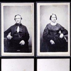 Fotografía antigua: PAREJA DE ÉPOCA GUERRA CIVIL AMERICANA EEUU CON SELLO DE DE IMPUESTO DE GUERRA CIVIL USA 1864-66. Lote 67025806