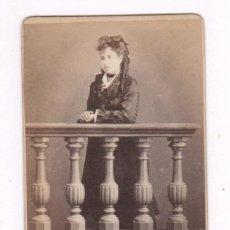 Fotografía antigua: RETRATO CDV DE DAMA, FOTO ROMÁN RIBAS, MALLORCA. Lote 69451765