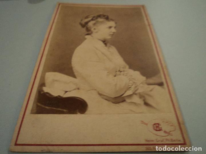 CARTA DE PRESENTACION FOTOGRAFO HEINR. GRAF, PH BERLIN 17 X 10 CM CARTON PRINZEFS VON BAYERN (Fotografía Antigua - Cartes de Visite)