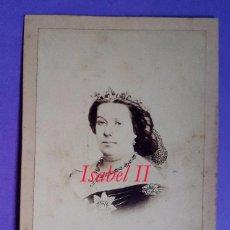 Fotografía antigua: ISABEL II - 1860. Lote 69901009