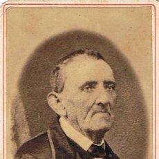 Fotografía antigua: C.V. RETRATO DE PERFIL EN ÓVALO DE DON IGNASI FARRÉS. CA.1880. AUTOR DESCONOCIDO. PROCED: BARCELONA. Lote 71447083