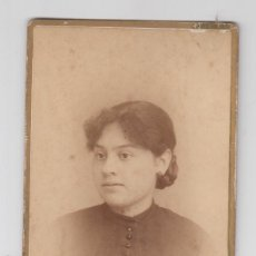 Fotografía antigua: ANTIGUA FOTOGRAFÍA,CDV,CARTA DE VISITA, F. LOZANO, VALENCIA, MUCHACHA. Lote 71678363