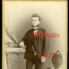 Fotografía antigua: RETRATO - 1870'S - FOTOGRAFIA JUAN MARTI. Lote 72878959