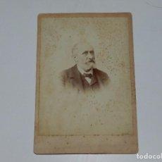 Fotografía antigua: CDV RAFAEL RODRIGUEZ MENDEZ - MEDICO Y DOCTOR, GRANADA 1870, FUNDA LA REVISTA GACETA MEDICA CATALANA. Lote 73681411