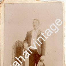 Fotografía antigua: JEREZ DE LA FRONTERA, SIGLO XIX, PRECIOSA CDV DE CALVACHE, 100X165MM. Lote 75479031