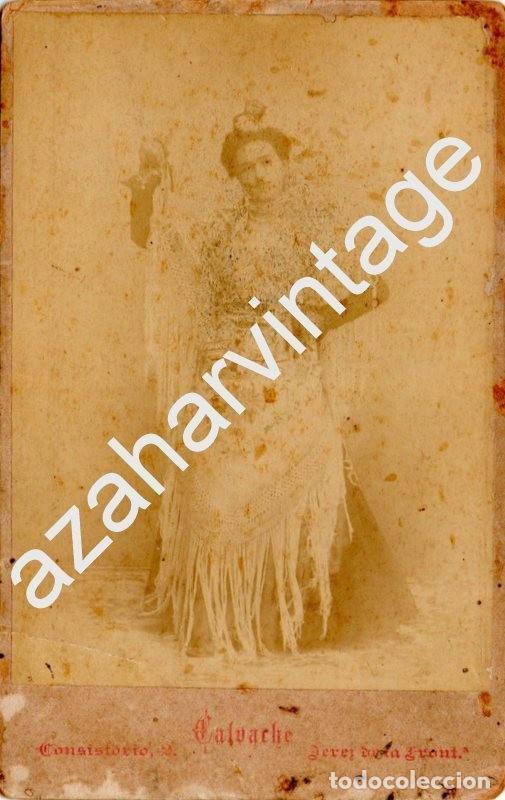 JEREZ DE LA FRONTERA, SIGLO XIX, PRECIOSA CDV DE CALVACHE, 105X165MM (Fotografía Antigua - Cartes de Visite)