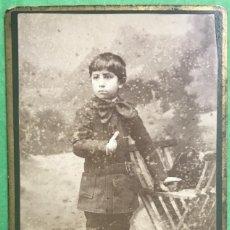 Fotografía antigua: FOTOGRAFÍA DE UN NIÑO - FOTÓGRAFO JOSÉ OLIVAN - SALAMANCA . Lote 76262599