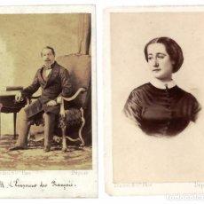 Fotografía antigua: 2 CDV DISDERI - EMPERADOR NAPOLEON III - EMPERATRIZ EUGENIA DE MONTIJO - FRANCIA. Lote 55084637