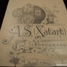 Fotografía antigua: A. S. XATART FOTOGRAFO 13 X 11 CM. Lote 79586873