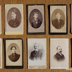 Fotografía antigua: LOTE 10 CDV / CARTES DE VISITE, MUJERES, HOMBRES, PUBLICIDAD FOTÓGRAFOS. Lote 80348309