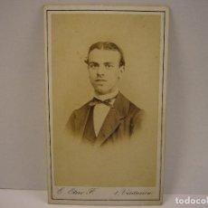 Fotografía antigua: FOTO DE CABALLERO . E. OTERO . SIGLO XIX .6 X 10 CM.. Lote 152826677