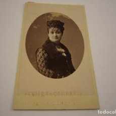 Fotografía antigua: ANTIGUA FOTO DE DAMA . FOTOGRAFO ALVIACH Y COMPAÑIA , MADRID . SIGLO XIX . 6 X 10 CM.. Lote 80416989