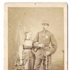 Fotografía antigua: DON CARLOS VII Y ESPOSA MARGARITA DE BORBON - CDV LE JEUNE - LEVITSKY - CARLISMO PRETENDIENTE REY. Lote 81257520