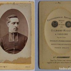 Fotografía antigua: LOTE 5. CDV / CARTES DE VISITE. SACERDOTE / RELIGIOSO / CURA.. Lote 81567412