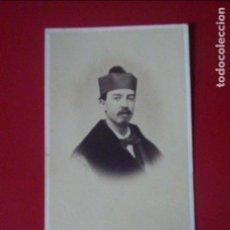 Fotografía antigua: CDV SEÑOR PROFESOR UNIVERSIDAD BIRRETE CARTE DE VISITE FOTO LUDOVISI Y SRA VALENCIA C.1865 XIX. Lote 82289244