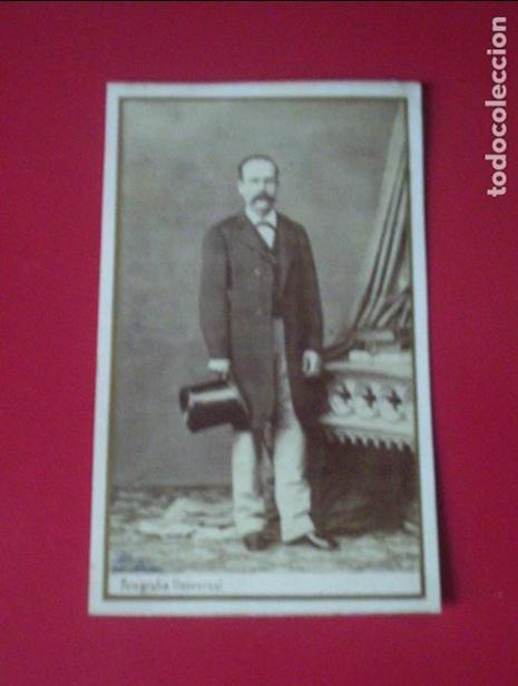 CDV SEÑOR TRAJE CARTE DE VISITE FOTO ROVIRA Y DURAN BARCELONA C.1865 XIX (Fotografía Antigua - Cartes de Visite)
