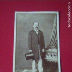 Fotografía antigua: CDV SEÑOR TRAJE CARTE DE VISITE FOTO ROVIRA Y DURAN BARCELONA C.1865 XIX. Lote 82290168