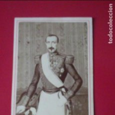Fotografía antigua: CDV MILITAR UNIFORME MEDALLA PINTURA CARTE VISITE FOTO FRANCO HISPANO AMERICANO BARCELONA C.1865 XIX. Lote 82290540