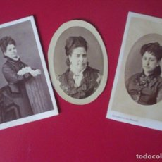 Fotografía antigua: 2CDV CARTE DE VISITE FOTO S. FARACH ALICANTE C.1865 XIX Mª DOLORES CASTILLA- ALONSO HIDALGO DE AULLO. Lote 102284462