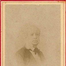 Fotografía antigua: FTO.C.V. RETRATO FRONTAL DIFUMINADO DE CABALLERO . CA.1880. FOT.: ROJO CAMPS Y CIA. MÁLAGA.. Lote 86262356