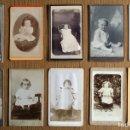 Fotografía antigua: LOTE 10 CDV / CARTES DE VISITE, NIÑOS, NIÑAS, BEBÉS, CON PUBLICIDAD DEL FOTÓGRAFO. Lote 87257660