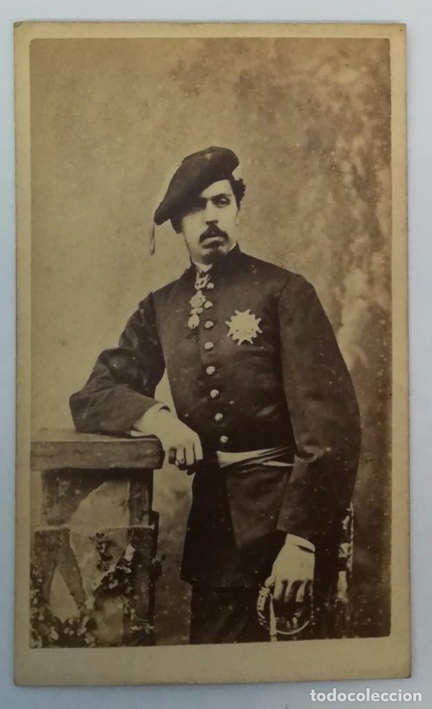 CDV CARLOS VII - DON CARLOS DE BORBÓN - CARLISMO - PRETENDIENTE REY CARLISTA (Fotografía Antigua - Cartes de Visite)