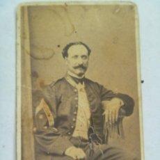 Fotografía antigua: GUERRA CARLISTA : CDV DE CORONEL , SIGLO XIX . DE LUDOVISI , VALENCIA.. Lote 88740436
