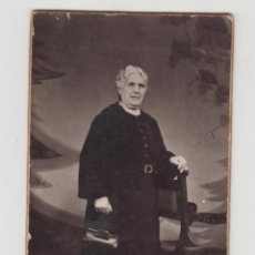 Fotografía antigua: ANTIGUA FOTOGRAFÍA,CDV,CARTA DE VISITA, J. LLOPIS, VALENCIA, SEÑORA. Lote 89479208