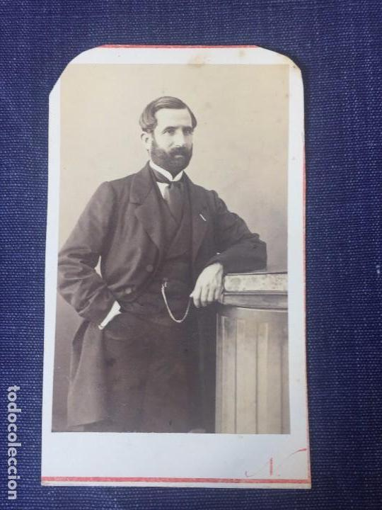 Carte De Visite CDV Caballero Barba Leontina Columna 1880 Francia Nadar