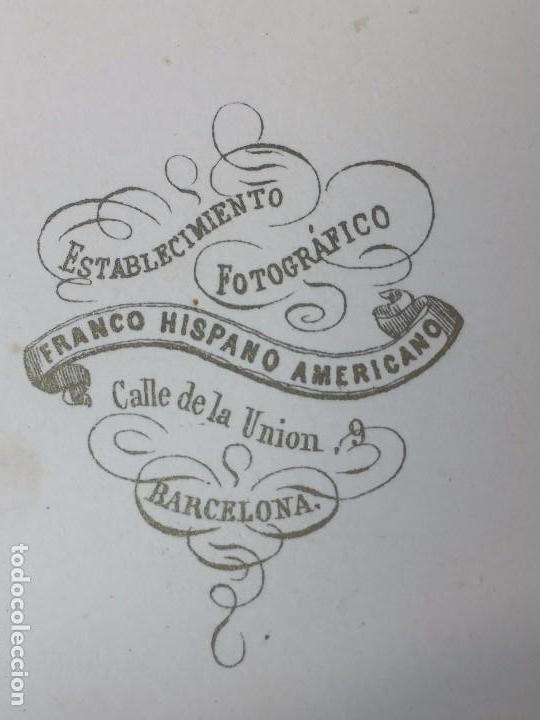 Fotografía antigua: Carte de visite CDV Caballero Bigote Leontina Insignia lazo franco Hispano Americano Barcelona f XIX - Foto 4 - 90715360
