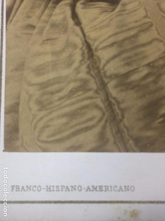 Fotografía antigua: Carte de visite CDV Señora Recogido Lunar Colgante Franco Hispano Americano Barcelona final XIX - Foto 3 - 90716710
