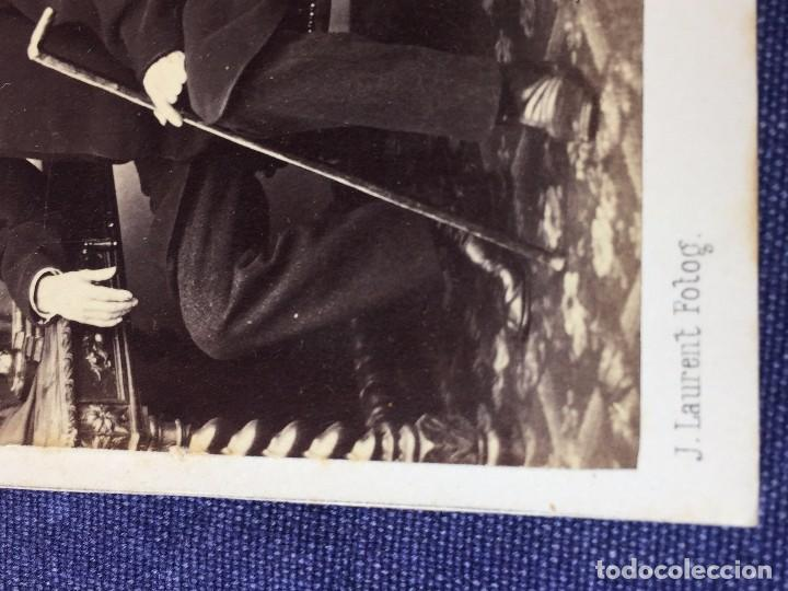 Fotografía antigua: Carte de visite CDV Caballero Barba Bastón Sillón Escritorio J Laurent Madrid finales XIX - Foto 4 - 90948865