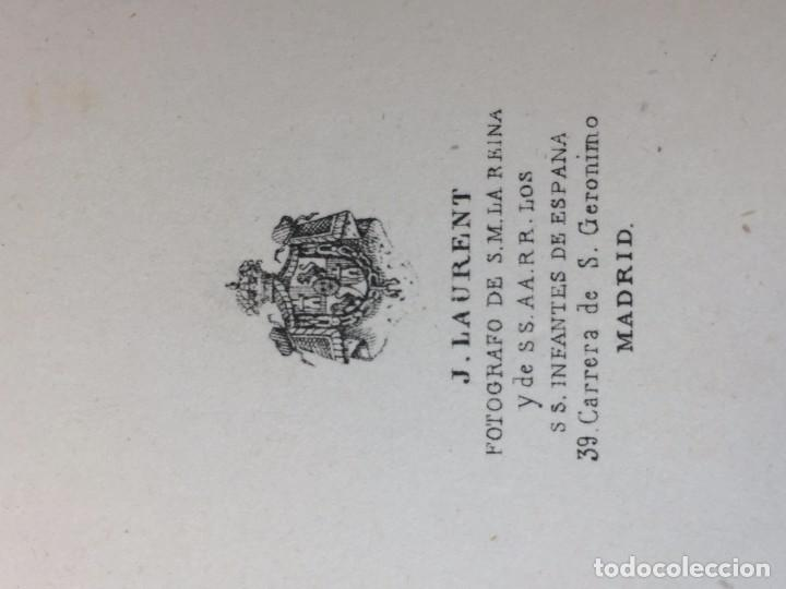 Fotografía antigua: Carte de visite CDV Caballero Barba Bastón Sillón Escritorio J Laurent Madrid finales XIX - Foto 6 - 90948865