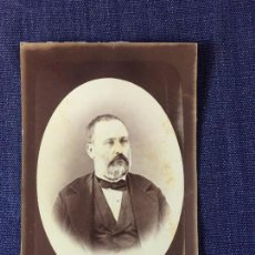 Fotografía antigua: CARTE DE VISITE CDV CABALLERO BARBA PAJARITALAZO CHAQUETA OVAL SIN FOTOGRAFO FINAL XIX. Lote 91034240