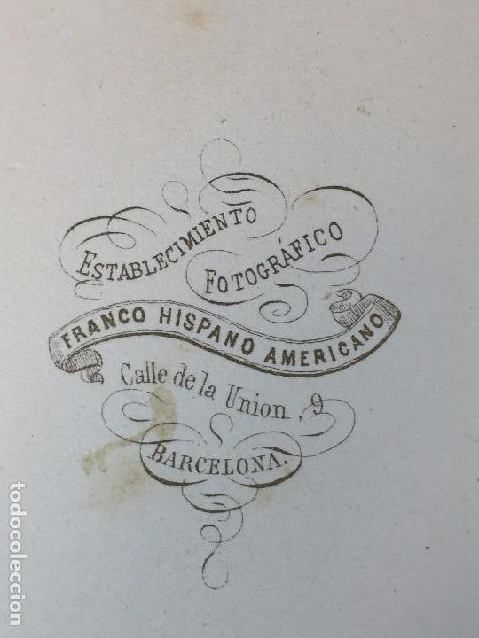 Fotografía antigua: CARTE DE VISITE CDV CABALLERO JOVEN BIGOTE LEONTINA PAÑUELO EPOCA FINAL XIX BARCELONA - Foto 5 - 91037080