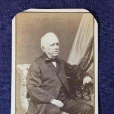 Fotografía antigua: CARTE DE VISITE CDV CABALLERO ANCIANO ROVIRA Y DURAN CORBIN SILLA FINAL XIX BARCELONA. Lote 91038370