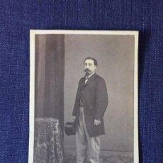 Fotografía antigua: CARTE DE VISITE CDV CABALLERO BARBA BIGOTE MOLINE Y ALBAREDA FINAL XIX BARCELONA. Lote 91041550