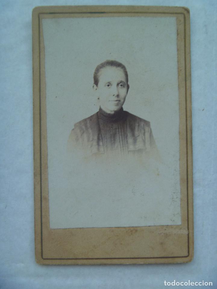 CDV DE SEÑORITA DEL SIGLO XIX (Fotografía Antigua - Cartes de Visite)