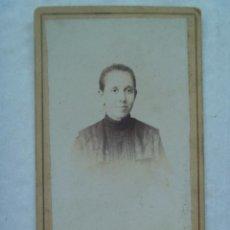 Fotografía antigua: CDV DE SEÑORITA DEL SIGLO XIX . Lote 91449560
