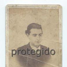 Fotografía antigua: RETRATO. CABALLERO. SIGLO XIX. FOTÓGRAFO Mº JUDEZ. COSO, 33. ZARAGOZA.. Lote 92178405